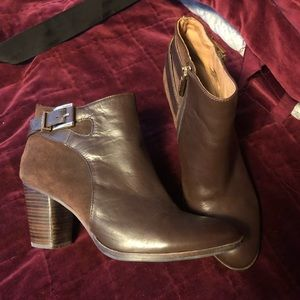 Louise Et Cie Brow Leather Boots Size 9